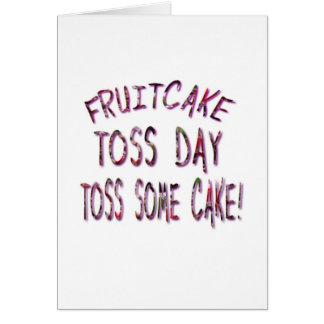 Fruitcake Toss Day Greeting Card