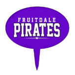 Fruitdale High School; Pirates Oval Cake Topper