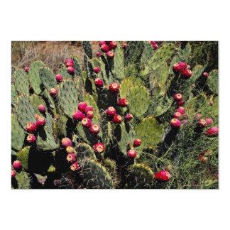 Fruited prickly pear cactus, Sonoran Desert 5x7 Paper Invitation Card