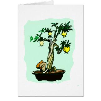 Fruiting Bonsai Yellow Fruit Graphic Image Design Card