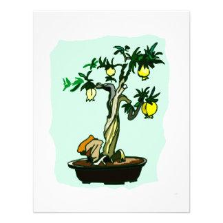 Fruiting Bonsai Yellow Fruit Graphic Image Design Custom Invitations