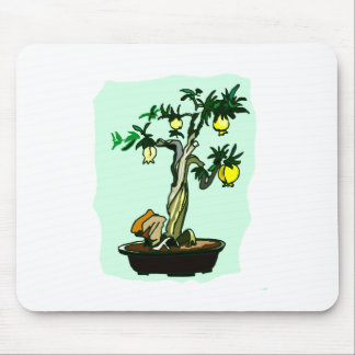 Fruiting Bonsai Yellow Fruit Graphic Image Design Mouse Pad
