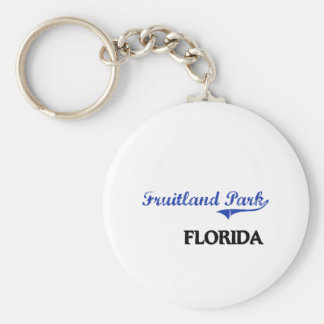 Fruitland Park Florida City Classic Basic Round Button Keychain