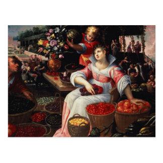 Fruitmarket , 1590 postcard