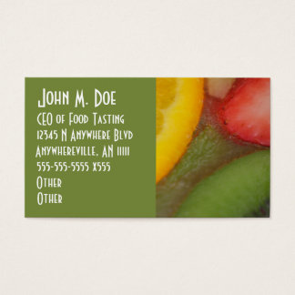 Fruitopia Colorful Fresh Fruit Business Card