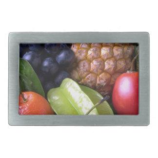 fruits-82524 fruits sweet fruit exotic pineapple P Rectangular Belt Buckle