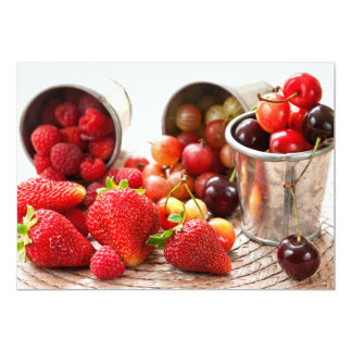 Fruits and berries 5x7 paper invitation card