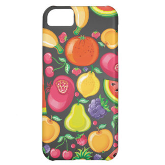 Fruits and Berries on Black Case For iPhone 5C