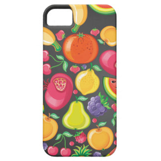 Fruits and Berries on Black iPhone SE/5/5s Case