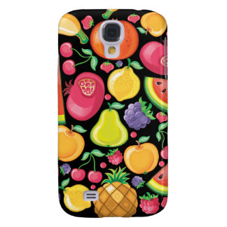 Fruits and Berries on Black Samsung Galaxy S4 Case