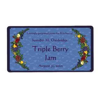 Fruits and Flowers Canning Jar Label