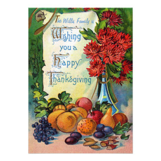 Fruits and Flowers Thanksgiving Card