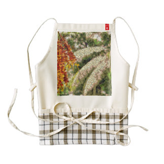 Fruits and greenery zazzle HEART apron