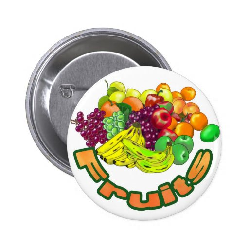 Fruits and Groceries 2 Inch Round Button
