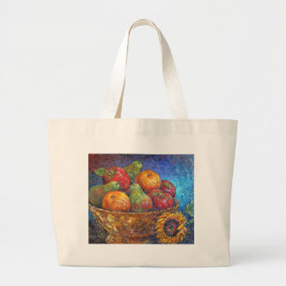 Fruits and Sunflower Painting Art - Multi Canvas Bag