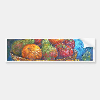 Fruits and Sunflower Painting Art - Multi Bumper Sticker