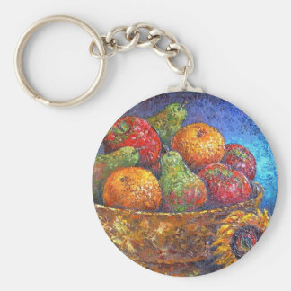Fruits and Sunflower Painting Art - Multi Keychains