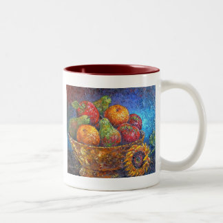 Fruits and Sunflower Painting Art - Multi Mugs
