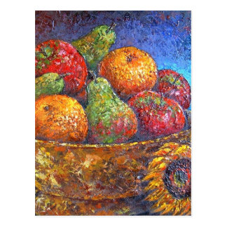 Fruits and Sunflower Painting Art - Multi Post Card
