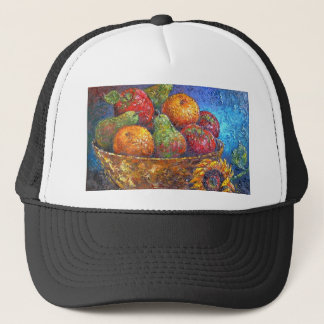 Fruits and Sunflower Painting Art - Multi Trucker Hat