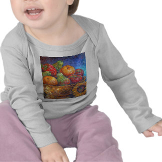 Fruits and Sunflower Painting Art - Multi Tee Shirts