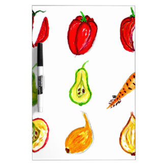 Fruits and Vegetables Art Dry-Erase Board