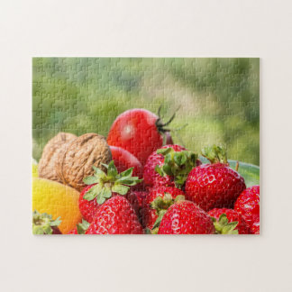 Fruits and Vegetables Garden puzzle. Jigsaw Puzzle