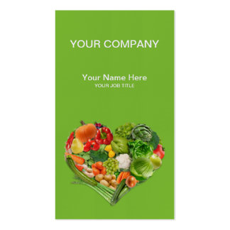 Fruits and Vegetables Heart Business Business Card Templates