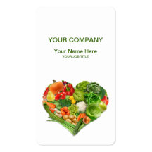 Fruits and Vegetables Heart Business Business Card Template