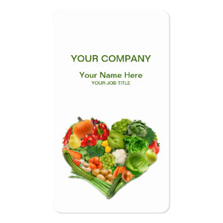 Fruits and Vegetables Heart Business Double-Sided Standard Business Cards (Pack Of 100)