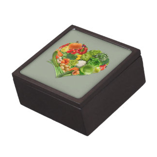 Fruits and Vegetables Heart - Vegan Gift Box