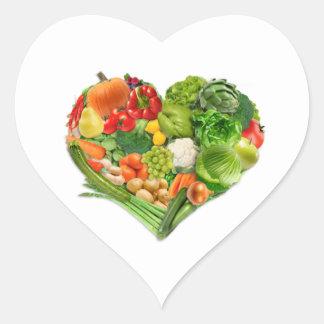 Fruits and Vegetables Heart - Vegan Heart Sticker
