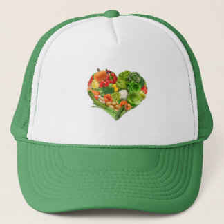 Fruits and Vegetables Heart - Vegan Trucker Hat