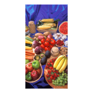 Fruits and vegetables photo greeting card