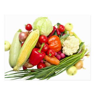Fruits And Vegetables Postcard