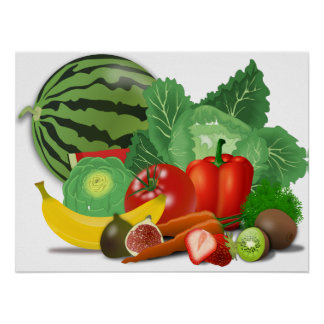 Fruits and vegetables posters