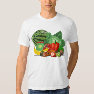 Fruits and vegetables tee shirt