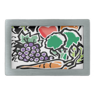 Fruits and Veggies Belt Buckle