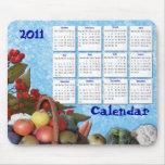 Fruits and veggies Mousepad calendar