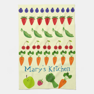 Fruits and Veggies Personalized Hand Towel
