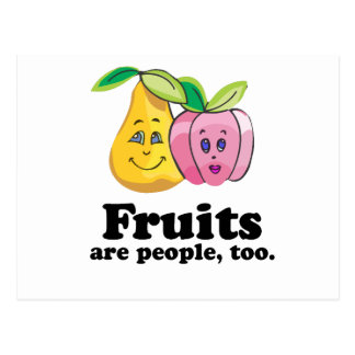Fruits are people too post card