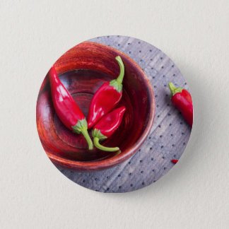 Fruits chilli hot red pepper button