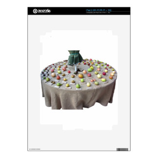 Fruits collection on the table skins for iPad 2