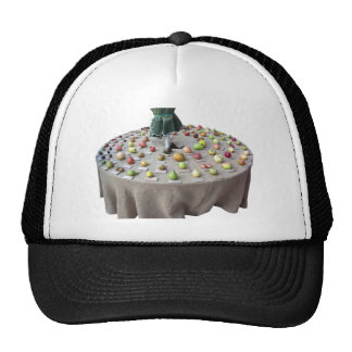 Fruits collection on the table trucker hat