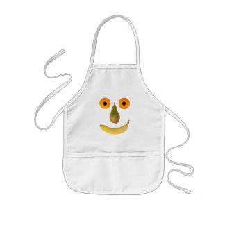 Fruits face kids' apron