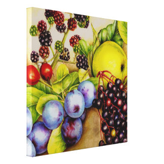 Fruits from the hedgerow painting canvas art print canvas print