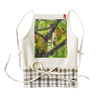 Fruits hanging down from a branch zazzle HEART apron