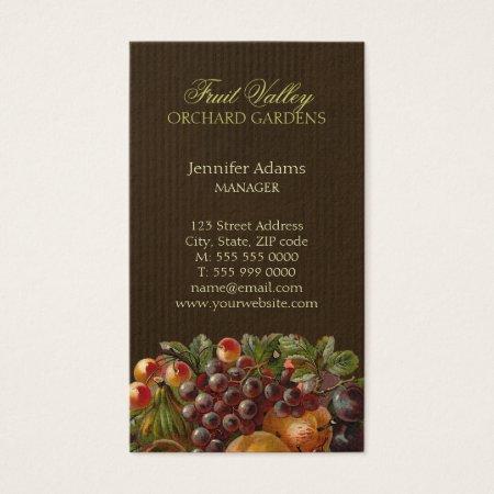 Fruit Orchard Harvest Farmer's Market Business Cards