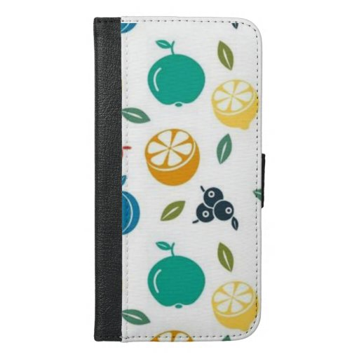 Fruits Healthy Natural Food iPhone 6/6s Plus Wallet Case