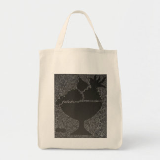 fruits in a bowl grocery tote bag